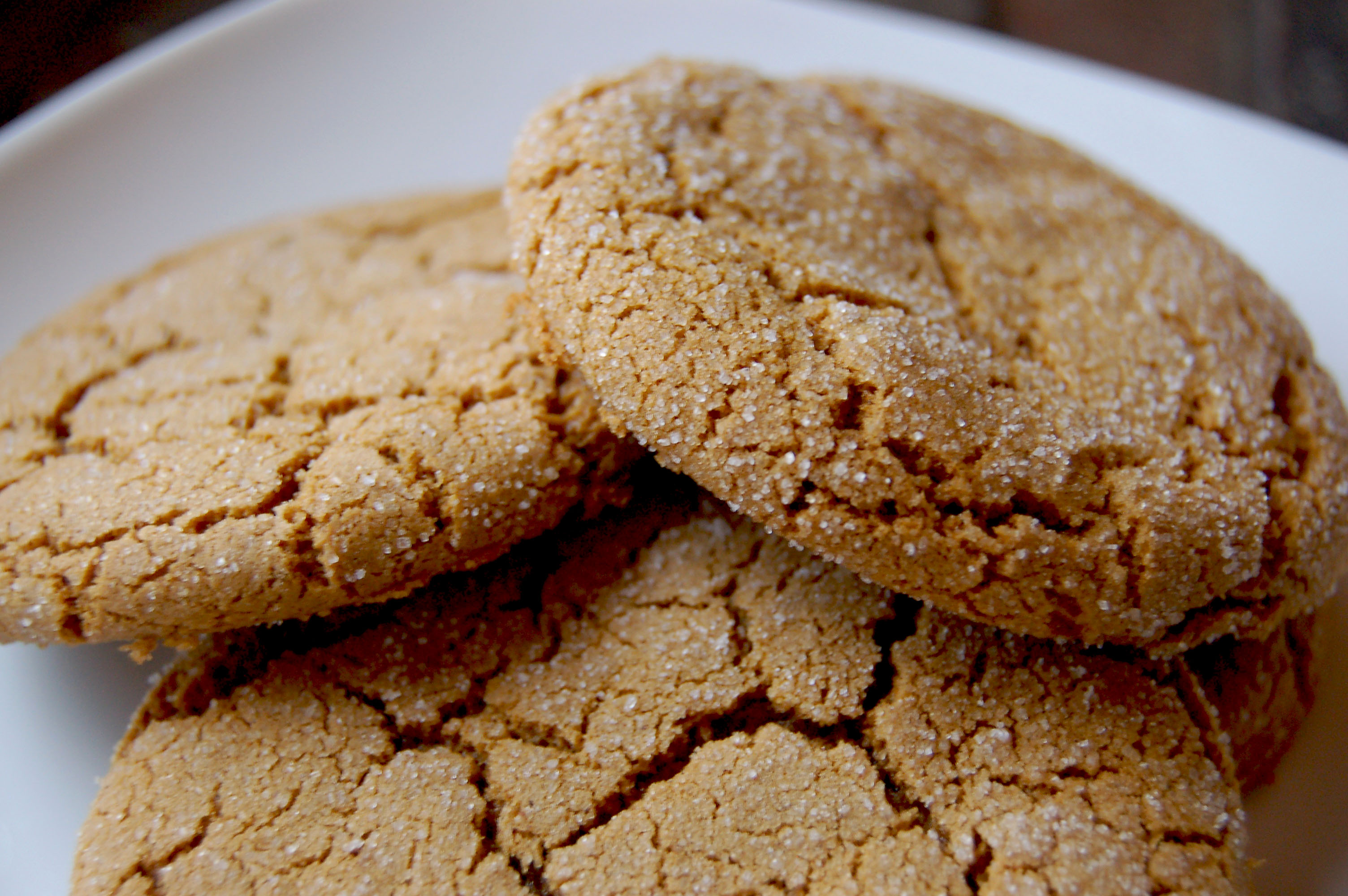Crystallized Ginger Molasses Cookies | The Perfect Bite