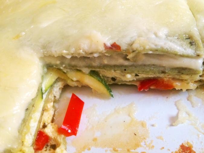 lasagna close up